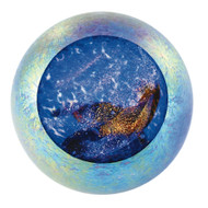 """Supernova"" glass paperweight handmade by Glass Eye Studio."