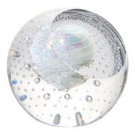 """""""Ice Dwarf"""" glass paperweight handmade by Glass Eye Studio."""