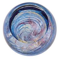 """Milky Way"" glass paperweight handmade by Glass Eye Studio."