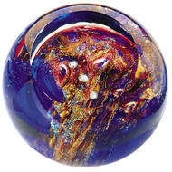 """Orion's Belt"" glass paperweight handmade by Glass Eye Studio."