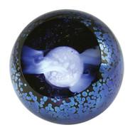 """Full Moon"" glass paperweight handmade by Glass Eye Studio."