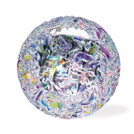 """Icestorm"" glass paperweight handmade by Glass Eye Studio."