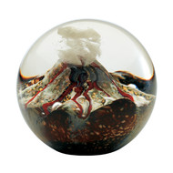 """Volcano"" glass paperweight handmade by Glass Eye Studio."