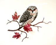 Owl on Maple Leaf Branch by Bovano of Cheshire Metal