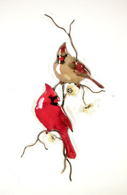 Two Cardinals on a Branch by Bovano of Cheshire Metal