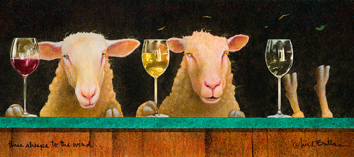 """Three Sheeps To The Wind"" by Will Bullas"