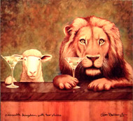 """Peaceable Kingdom With Two Olives"" Metal Print by Will Bullas"