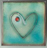 """""""Within"""" (blue) by Jenn Bell 4x4 glass on copper tile"""
