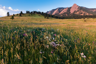 """Chautauqua Park Flatirons"" Photograph by Colorado photographer James Frank. This photograph was taken near the base of the Flatirons in Boulder, CO."