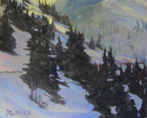 """""""Road to Silverton"""" by Adam Blanks.  Oil on Canvas. 16x20 inches."""