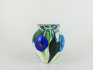 """Mini Calla Lily Vase in Triple Blue"" by Scott Bayless"