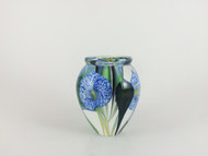 """Mini Calla Lily Vase in Veined Cobalt"" by Scott Bayless."