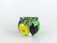 """Mini Calla Lily Vase in Blue, Green, and Yellow"" by Scott Bayless."