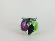 """Mini Calla Lily Vase in Blue, Green, and Purple"" by Scott Bayless."