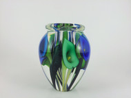 """Large Calla Lily Vase in Triple Blue"" by Scott Bayless."