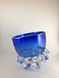 """Small Thorn Vessel in Cobalt and Silver"" by Andrew Madvin."