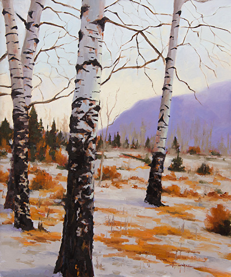 """Aspen Winter Solitude"" by Terri Sanchez  20x24"