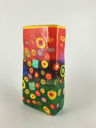 """Small Rectangle Vase in Citrus""  by Michael Maddy & Rina Fehrensen, Mad Art Studio"