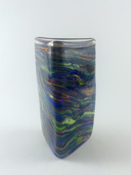 """Small Triangle Vase in Goddess""  by Michael Maddy & Rina Fehrensen, Mad Art Studio. 5.25""x2.75""x2.5""."