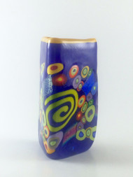 """Small Triangle Vase in Lapis""  by Michael Maddy & Rina Fehrensen, Mad Art Studio"