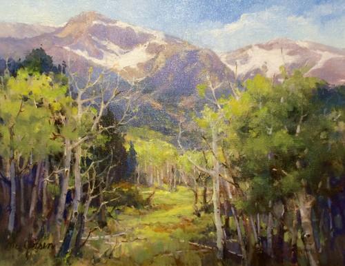 """Spring Arriving,"" by Margaret Jensen, Oil 11x14."