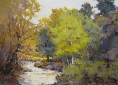 """Big Thompson Spring"" by Margaret Jensen 9x12"