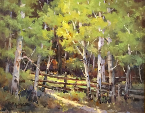 """Gem Lake Trailhead, RMNP"" Margaret Jensen 11x14"