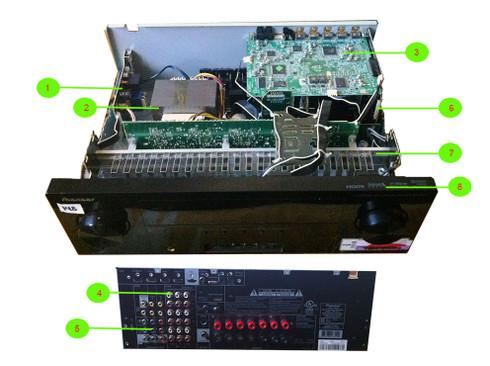 Pioneer VSX-821K Parts