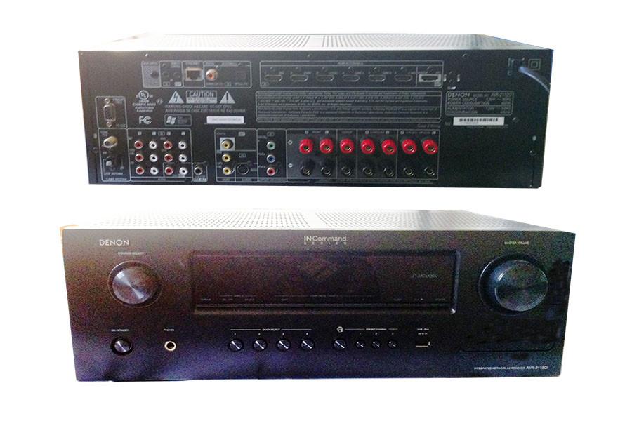 Denon AVR-2112CI Integrated Network A/V Receiver 3D 6-IN HDMi 7 1Ch 1000W