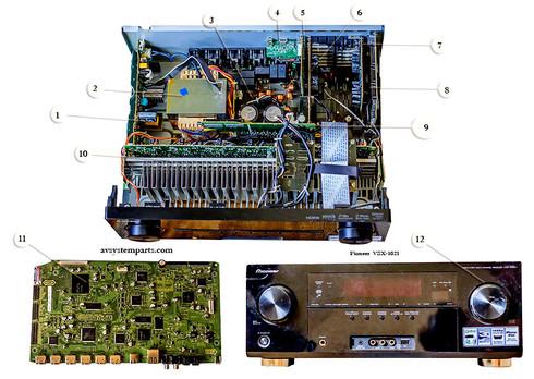 Pioneer VSX-1021-K Parts