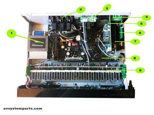 Pioneer VSX-820-K parts