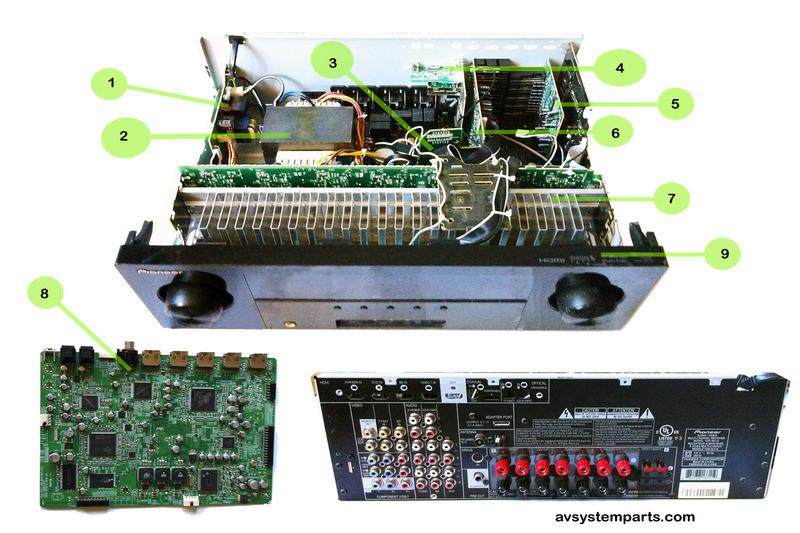 Pioneer VSX-921K Parts,SKP6503-49B,7020-07025-000-0s,020-0s  VSX-921-K,7020-07022-000-0s