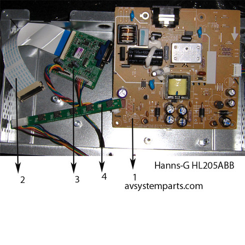 Hanns-G HL205ABB Monitor Parts
