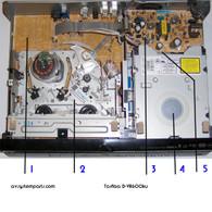 Toshiba D-VR600KU Parts