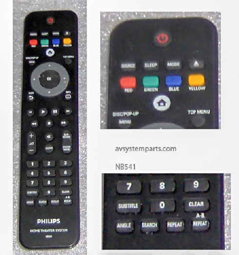 Philips NB541 Remote Control Home Theater System
