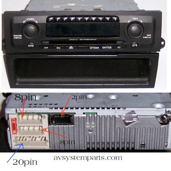 porsche cdr23 be6627 in dash cd fm am car player Mahindra Wiring Diagrams