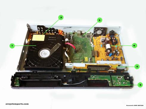 Panasonic DMP-BDT350 Parts