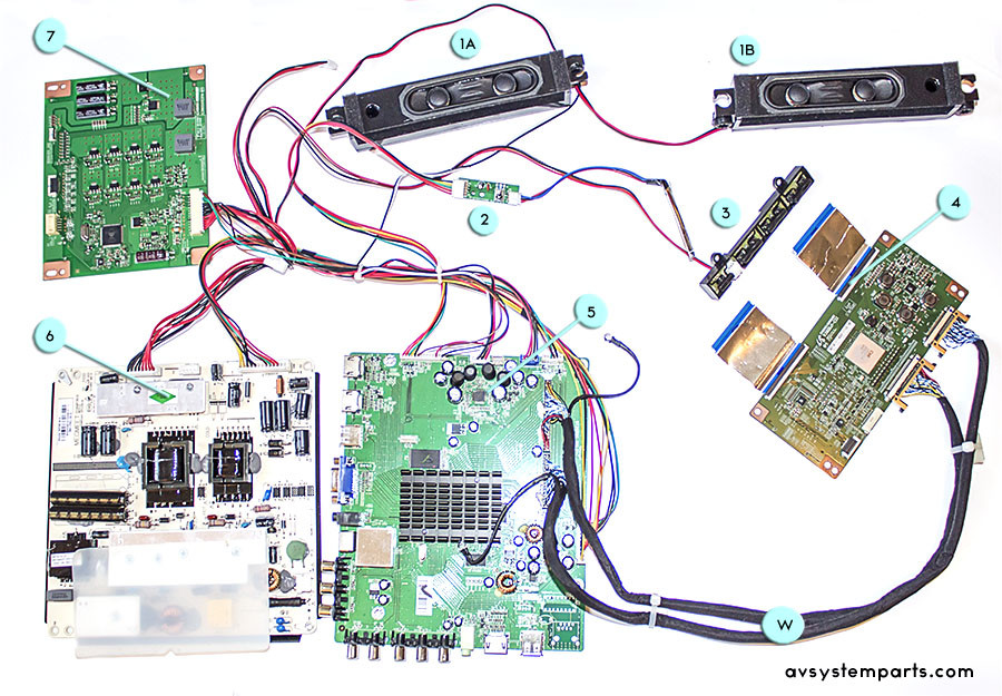 TV Seiki SE39UY04 Parts:MP-3618-N,ST2975K-R10 3,V390DJ1-CS1,C390S01E01A