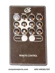 GPX HM3817DT Remote control