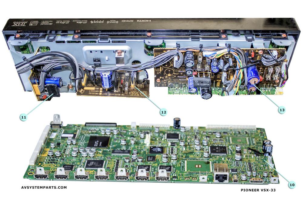Pioneer VSX-33 Parts:ATS7434-130B,ANP7755-A,Front Cover- Display
