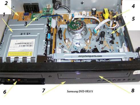 Samsung DVD-VR375 Parts