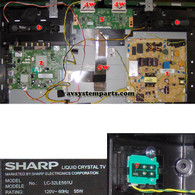 TV Sharp LC-32LE551U Parts