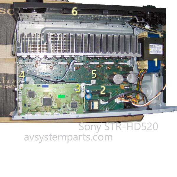 Sony STR-DH520 Parts:1-697-117-11,1-883-401-24,1-883-191-21,1-883-126-21