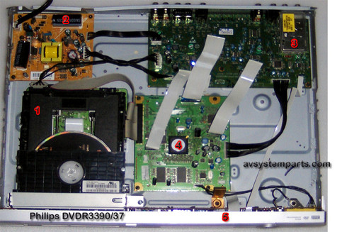 Philips DVDR33390/37 Parts