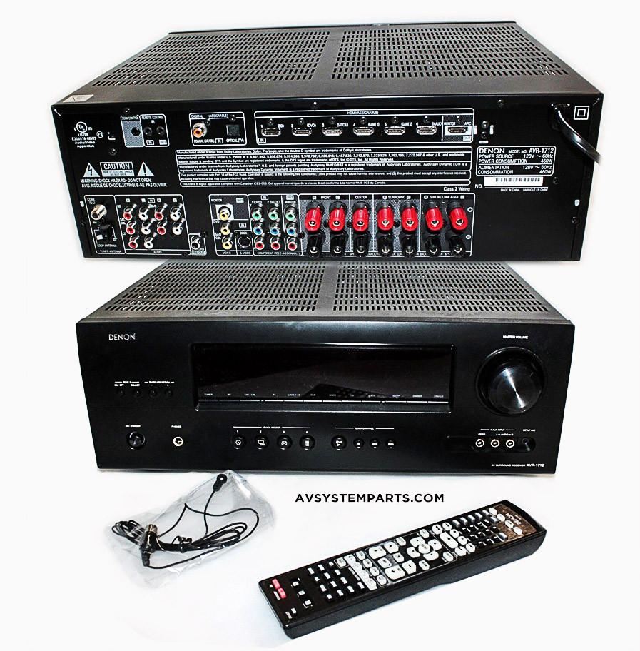 Denon AVR-1712 3D BD , HDMi 7 1 Channel AV Home Theater Multi-Source /  Multi-Zone Receiver