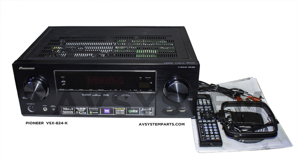 Pioneer VSX-824-K Receiver 5 2-Channel 4K Ultra HD Ready,Android platforms  A/V Receive