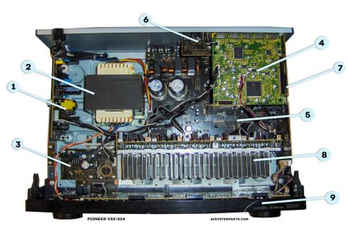 Pioneer VSX-524-k Parts