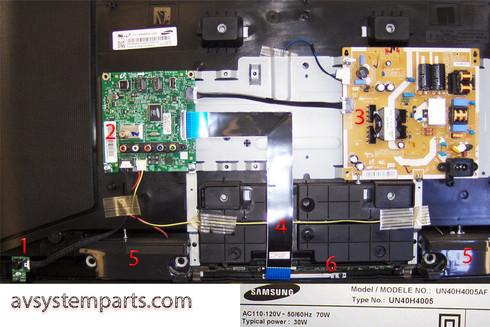 TV Samsung UN40H4005AF Parts