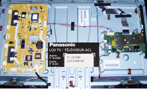 TV Panasonic TC-32LX44 Parts: TNP4G508,TNP4G519,L0AA10B,TNP4G514,TNPA5378