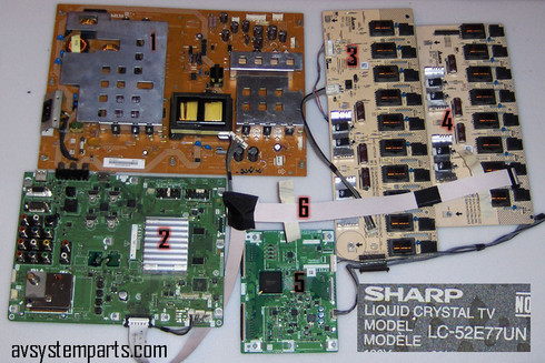 Sharp LC-52E77UN TV Parts